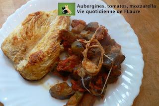 Vie quotidienne de FLaure: Aubergines, tomates et mozzarella