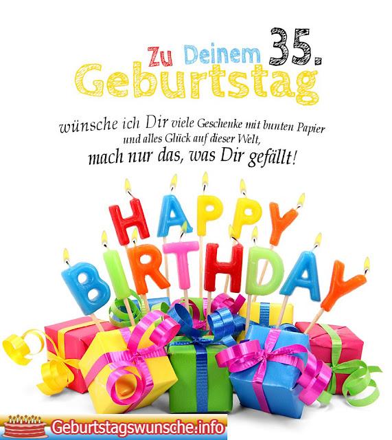 Geburtstagssprüche 35. geburtstag