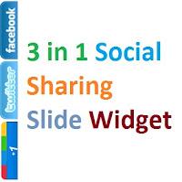 Facebook, Twitter, Google Plus Ẩn hiện trong cùng 1 tiện ích