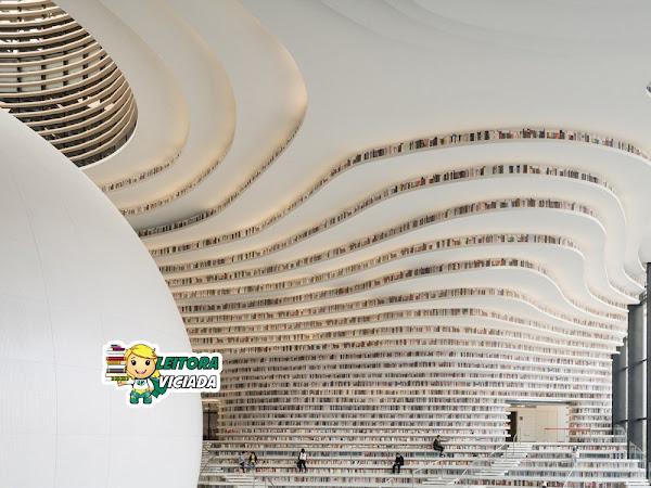 Roteiro Literário: biblioteca futurística com + de 1 milhão de livros e 37 mil m², na China