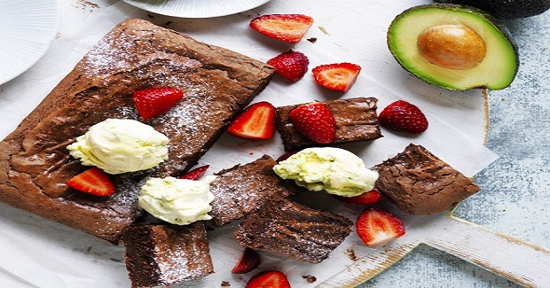 Decadent Avocado Brownie With Easy Avocado Ice-cream Recipe