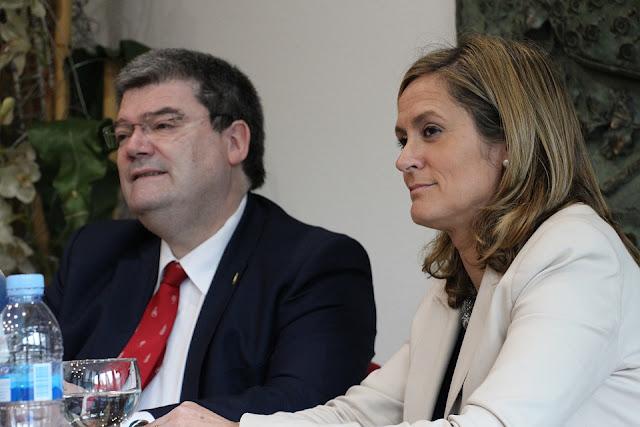 Los alcaldes de Bilbao y Barakaldo, Juan María Aburto y Amaia del Campo