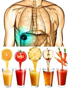 Vitaminas y minerales obtenidos a través de zumos de frutas para la salude de la vesícula biliar