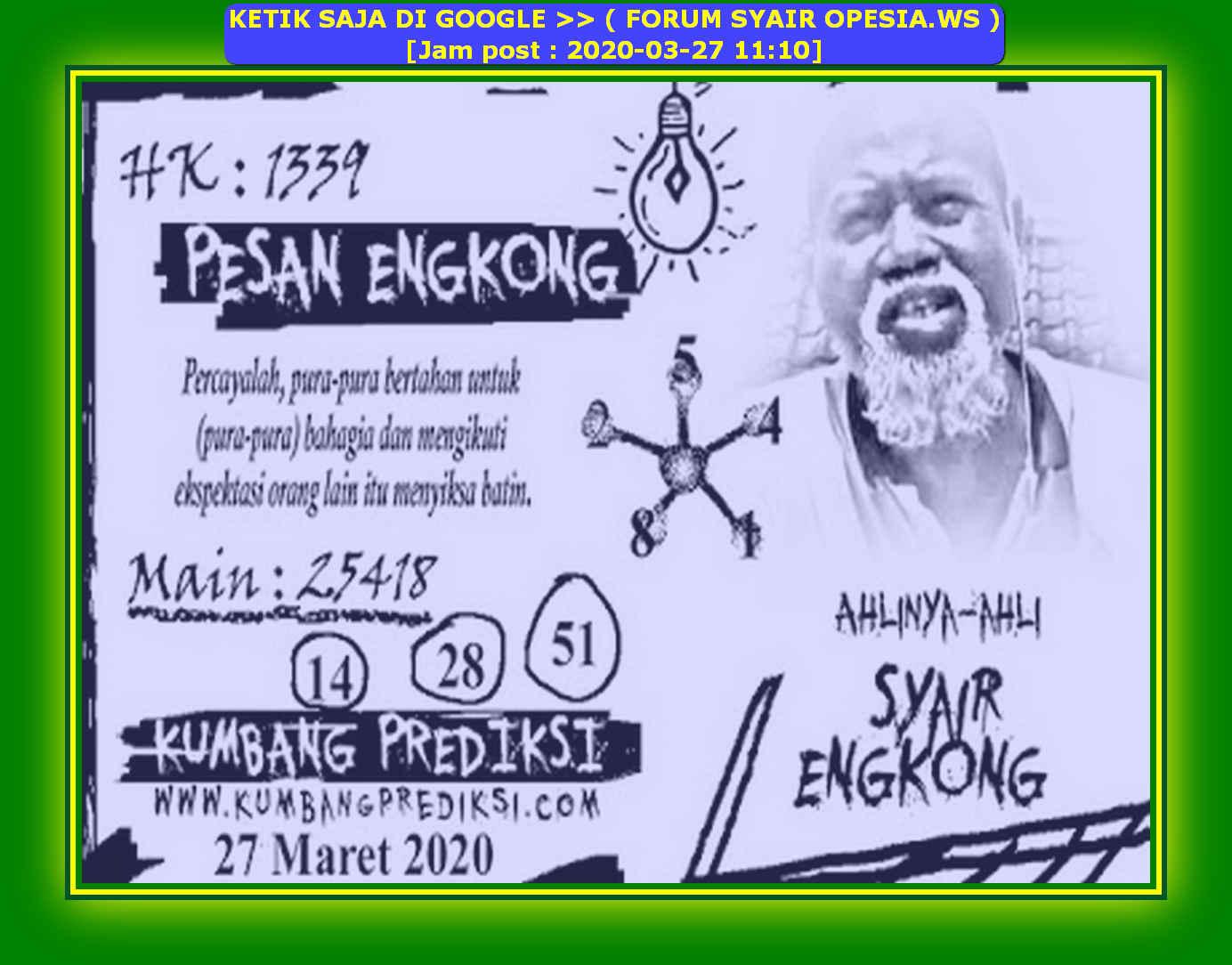 Kode syair Hongkong Jumat 27 Maret 2020 132