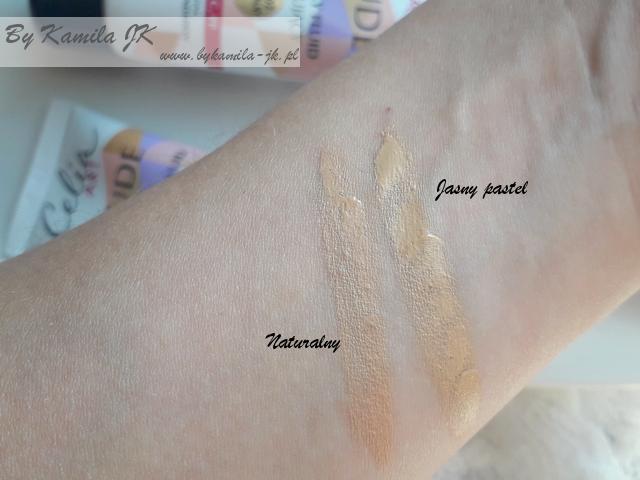 Celia przegląd kosmetyków do makijażu z linii ART Podkład Nude swatche kolory Jasny pastel  Naturalny