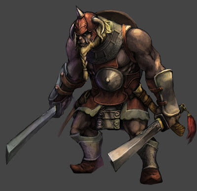 Halforc Barbarian (good) by Penett