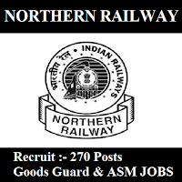 Northern Railway, NR, freejobalert, Sarkari Naukri, Northern Railway Answer Key, Answer Key, northern railway logo