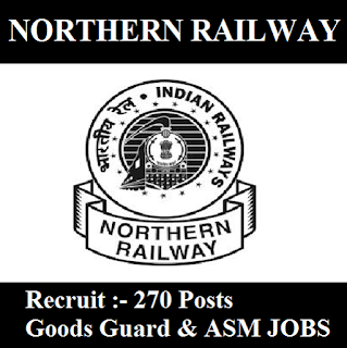 Railway Recruitment Cell, RRC, Northern Railway, NR, New Delhi, RAILWAY, Indian Railways, Graduation, Goods Guard, ASM, freejobalert, Sarkari Naukri, Latest Jobs, northern railway logo