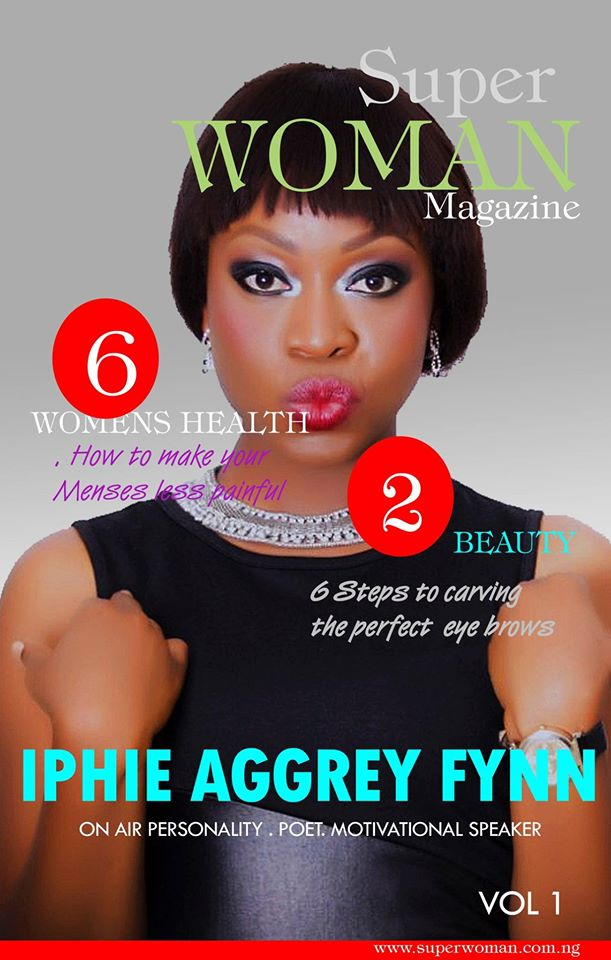 Iphie on the cover of Super Woman Magazine. (Image Credit: Stell Dimokokorkus)