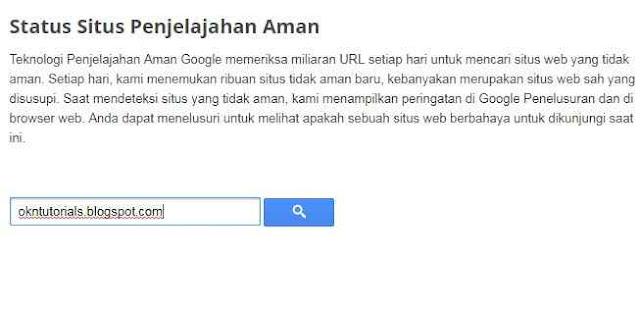 Cara Mengetahui Apakah Blog Kita Berbahaya Bagi Google