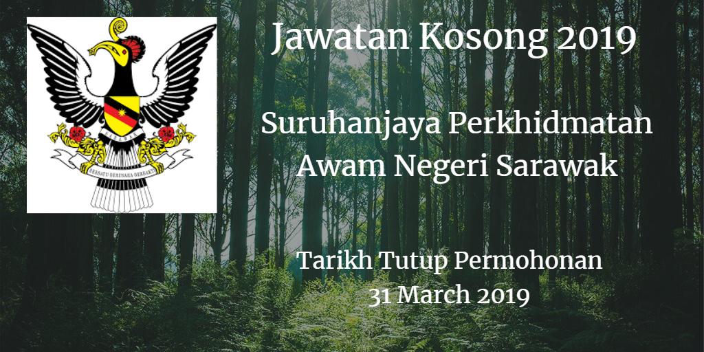 Jawatan Kosong Suruhanjaya Perkhidmatan Awam Negeri Sarawak 31 March 2019