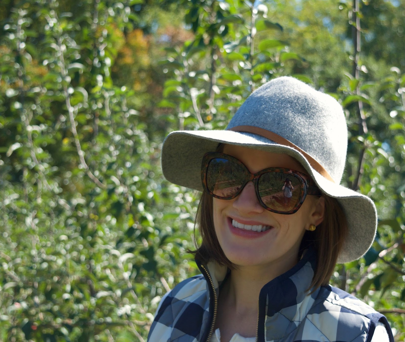 wool hat - fall hat - apple picking outfit