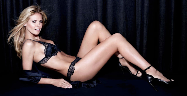 Heidi Klum strips to lingerie for Intimates Campaign Fall/Winter Latest