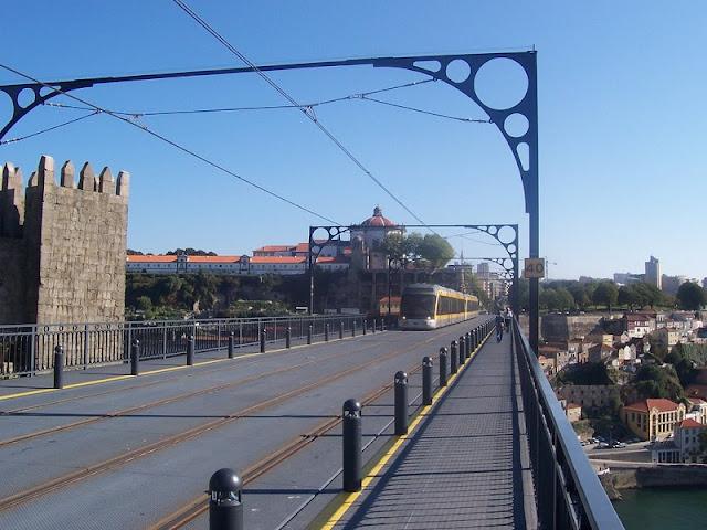 Principais trajetos e destinos de Porto