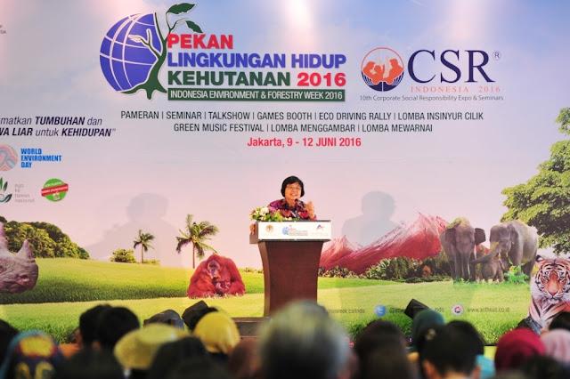 Menteri Lingkungan tutup Pekan Lingkungan Hidup dan Kehutanan 2016