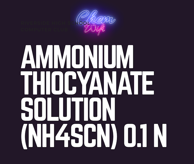AMMONIUM THIOCYANATE SOLUTION, 0.1 N