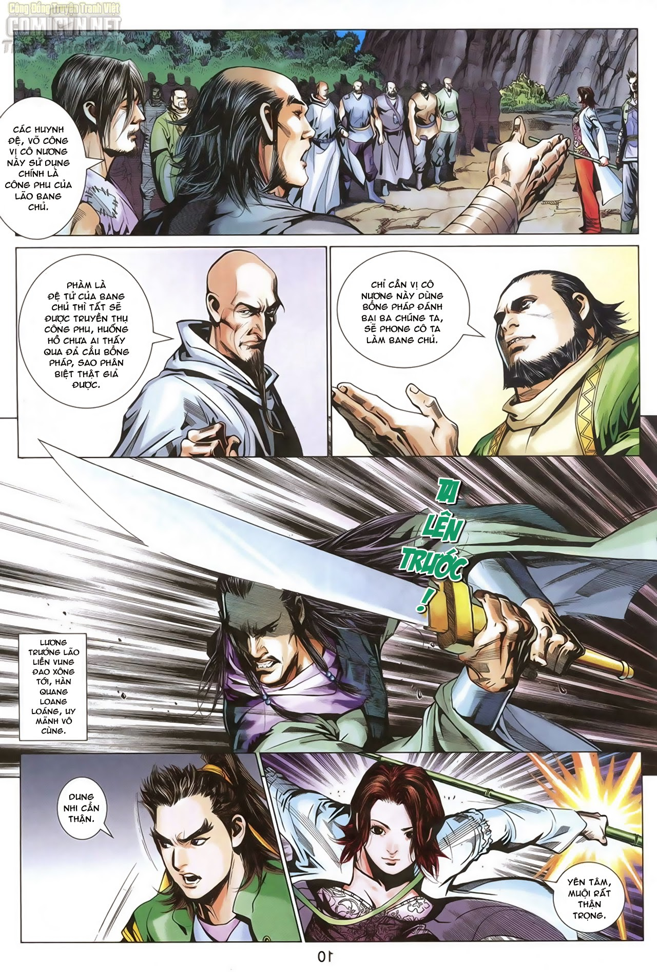 Anh Hùng Xạ Điêu anh hùng xạ đêu chap 68: di thư chân kinh - lừa tình trang 11