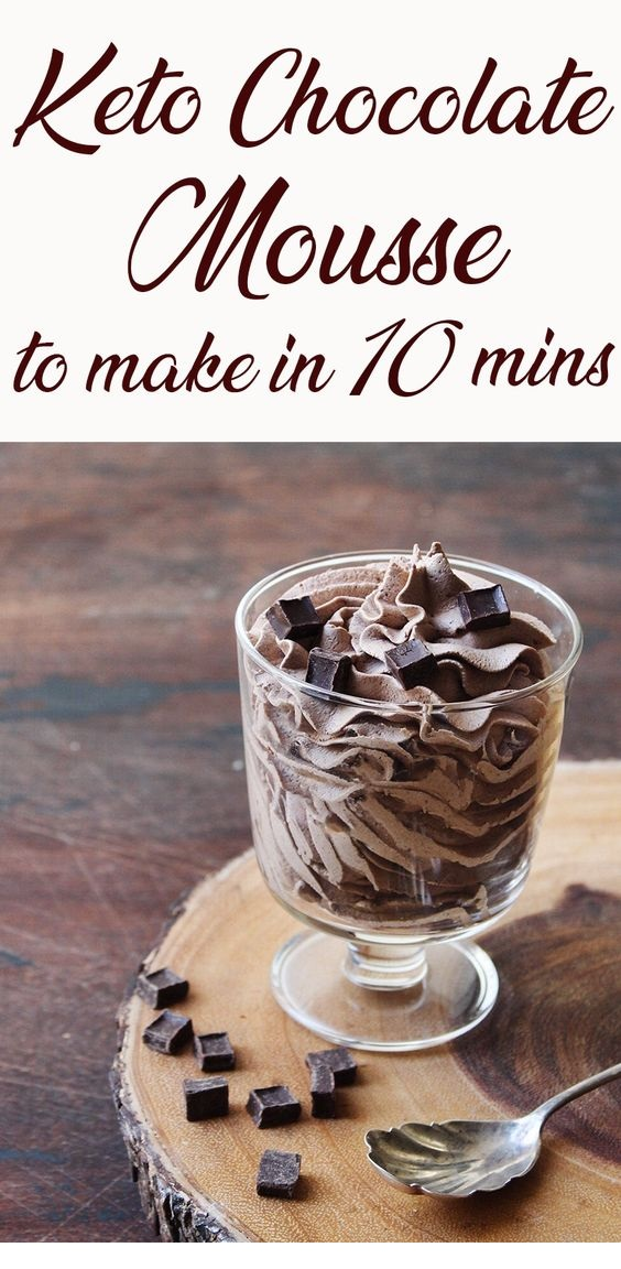 KETO RECIPES   2 Ingredient Keto Chocolate Mousse