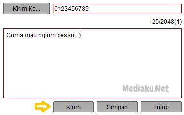 Mengirim SMS Lewat Modem Telkomsel Flash