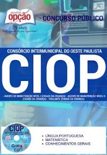 Apostila Concurso CIOP-SP 2016 para Auxiliar Administrativo de Creche.