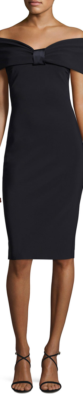 La Petite Robe di Chiara Boni Maria Carla Off-the-Shoulder Jersey Cocktail Dress