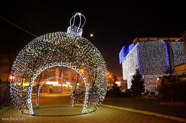 New Year decorations 2016, Bitola, Macedonia