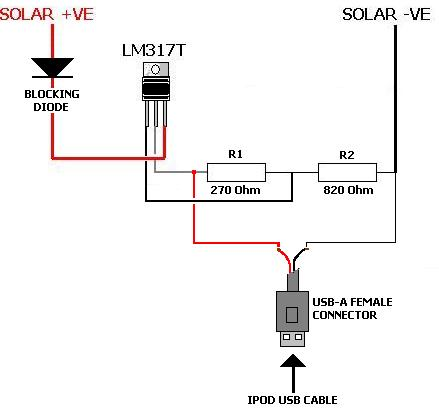 Battery Charger Circuit using Solar Cell Circuit Diagram