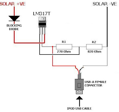 Battery Charger Circuit using Solar Cell Wiring diagram