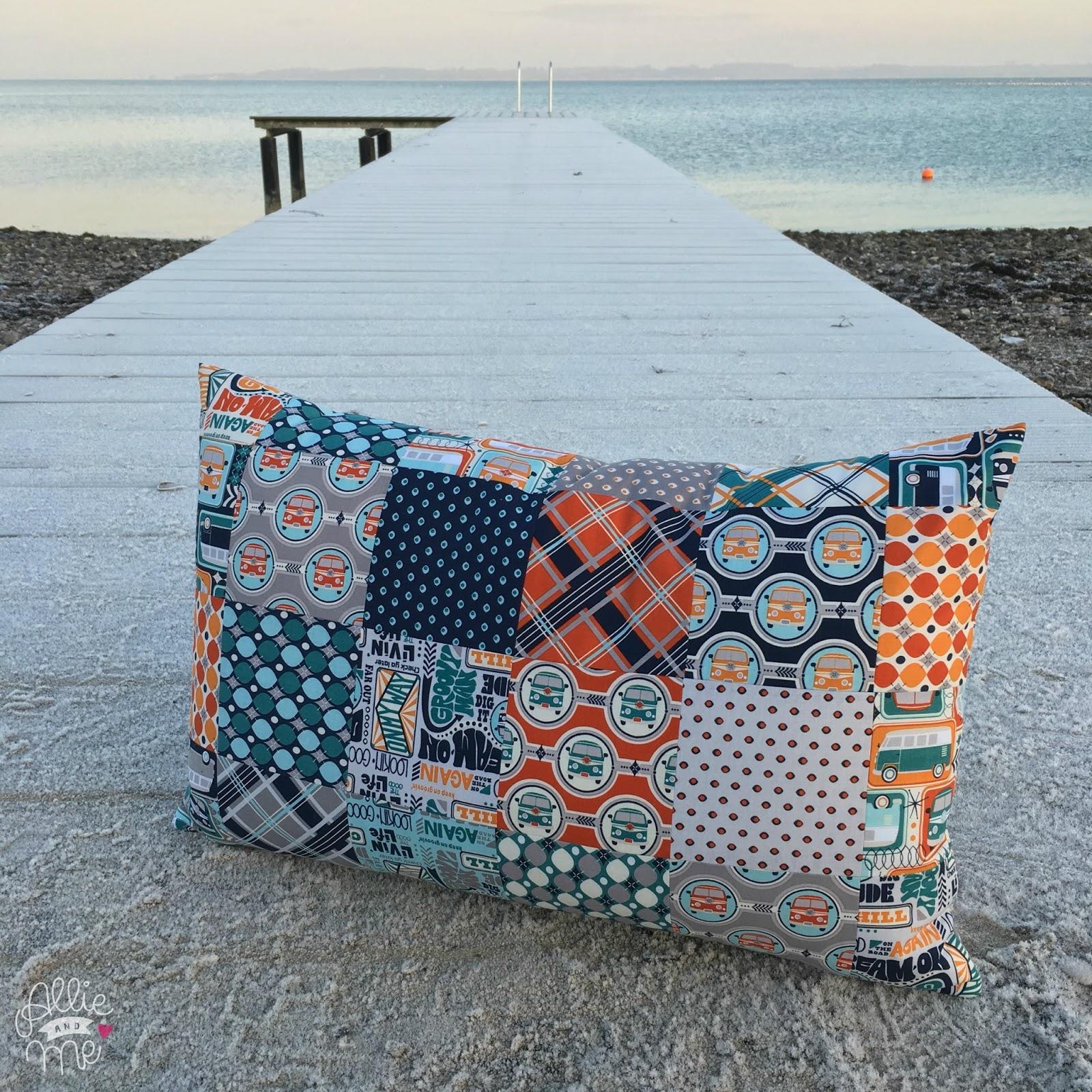 Allie And Me Design: Ein Charmpack - Ein Kissen ♥ Tutorial ♥ Diy ... 17 Kissen Designs Gute Laune Sommer