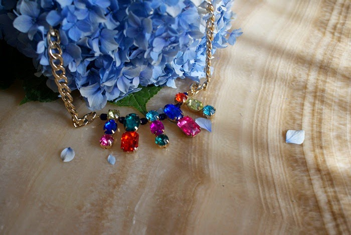 statement necklace diy fashion rhinestones
