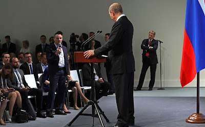 President of Russia Vladimir Putin answers journalists' questions.