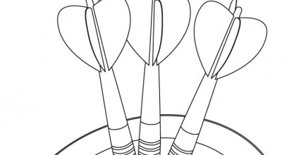 dart board coloring pages - photo#24