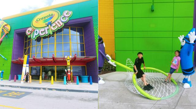 entrance of Crayola Experience in Orlando, FL