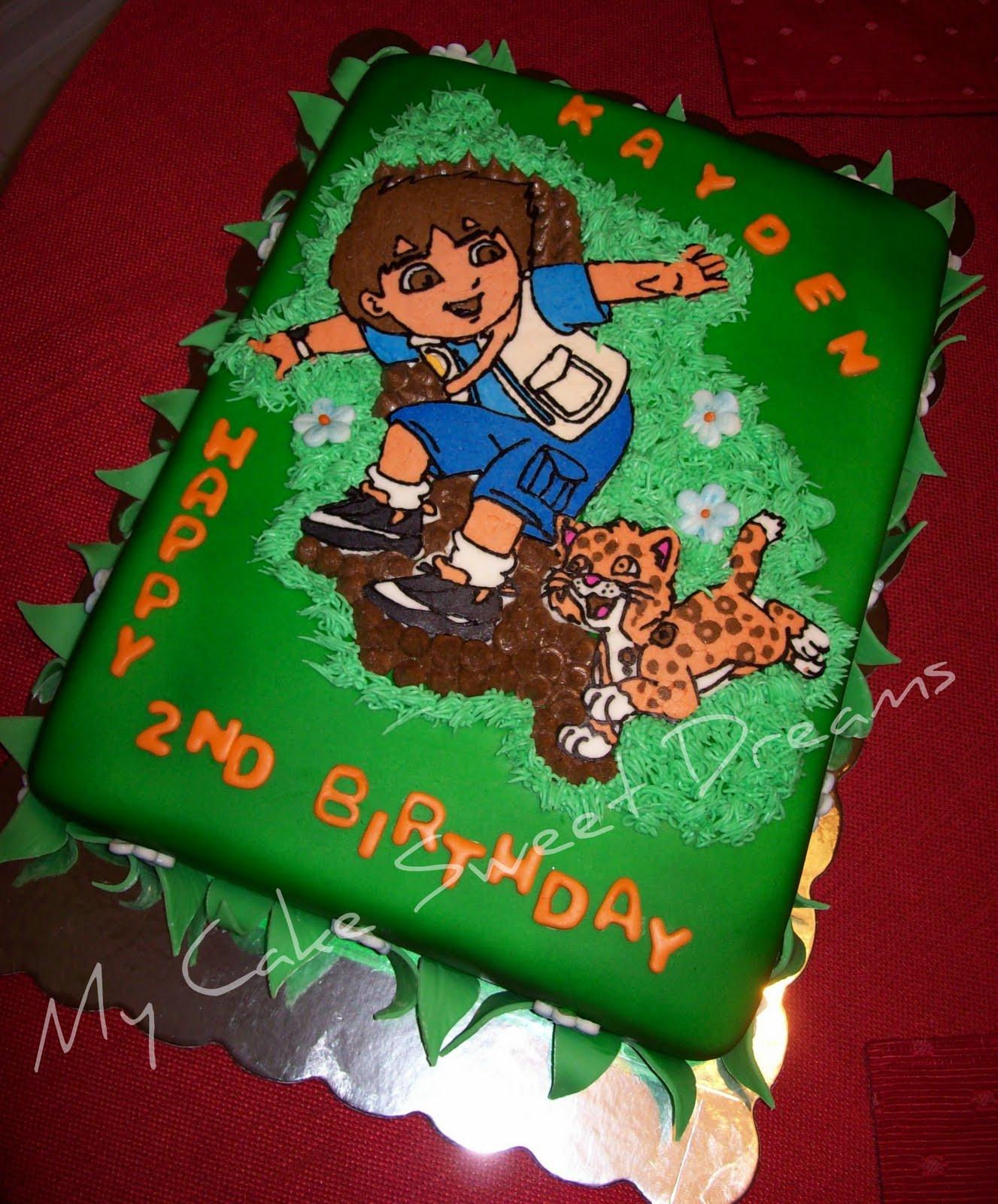Swell Cakesbyzana Diego Birthday Cake Personalised Birthday Cards Epsylily Jamesorg