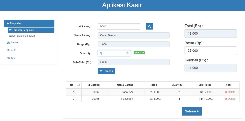 download contoh aplikasi kasir dengan codeigniter
