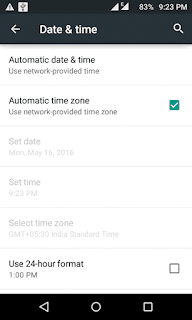 fix date and time to fix google play store error