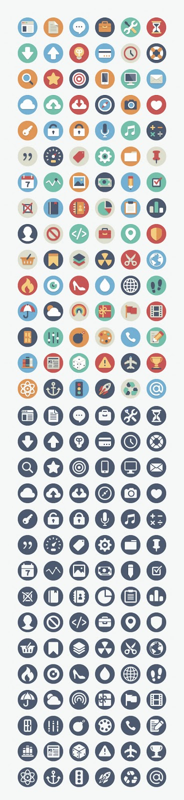 90 Free Beautiful Flat Icons