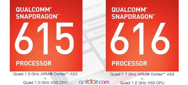 Perbedaan Snapdragon 615 dengan 616