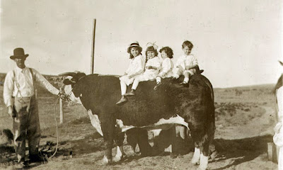 children on a Matador bull