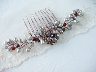 wedding accessories, bridesmaid jewelry, hair accessories, hair brooch, headpiece