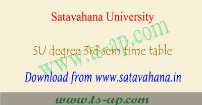 Satavahana university degree 3rd sem time table 2018 pdf,su degree 2nd year 3rd semester exam time table 2018