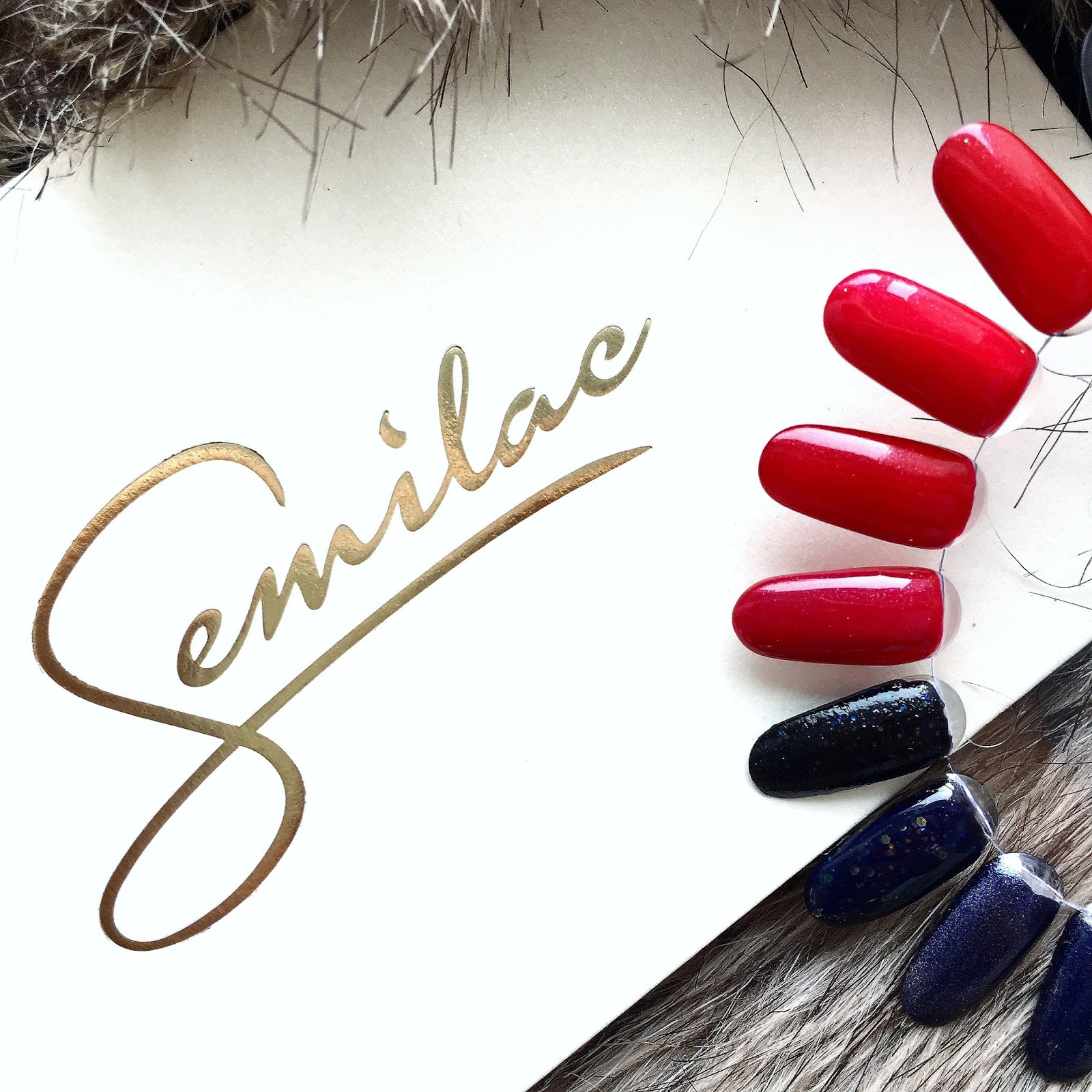 Propozycje manicure na święta i Sylwestra, nowości z Semilac Something Nice oraz I'm not sure
