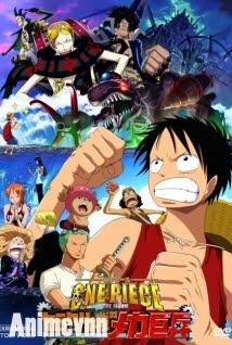 One Piece Movie 7 -Tên Khổng Lồ Trong Lâu Đài Karakuri - One Piece: Karakuri Shiro no Mecha Kyohei 2012 Poster