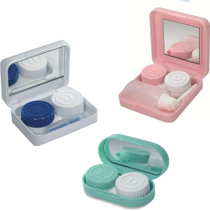 87fa60f211da6 Kits com ventosa e recipiente para carregar a solução da lente, podem vir  também com pinça ou pegador para lente de contato.