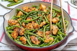 Chicken and Green Bean Stir Fry Recipe #healthyfood #dietketo