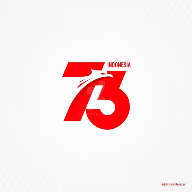 Logo Hut Ri Ke 74 Cdr Nusagates