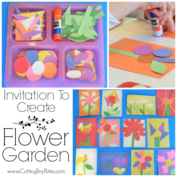 invitation to create flower garden what can we do with paper and glue