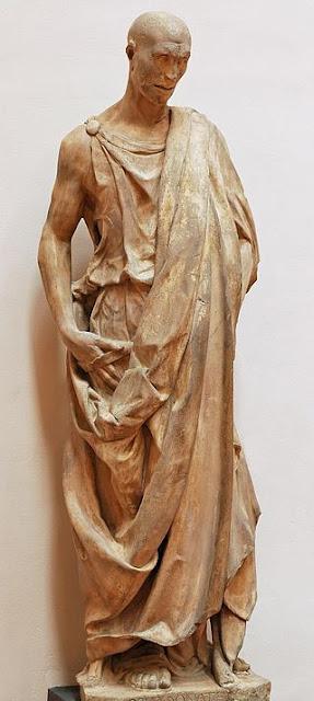 Флоренція, вежа Кампаніла Джотто. Одна зі скульптур інстальованих на вежі, відома як Zuccone. У цій роботі Донателло зобразив біблейського пророка, відомого за ім'ям «Хабаккук». Як відомо з Біблії цей пророк передбачив народження месії Ісуса. Статуя більш відома як Zuccone, що в перекладі з італійської, гарбуз,