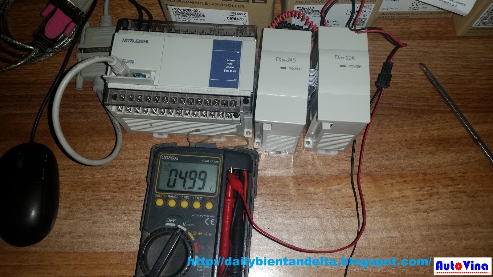 Hướng dẫn dùng đồng hồ điện tử đo tín hiệu analog 5V