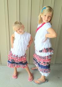 4th of July Girl Ruffle Skirts